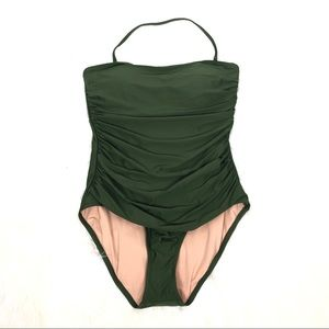 NWT J. Crew Olive one-piece swimsuit